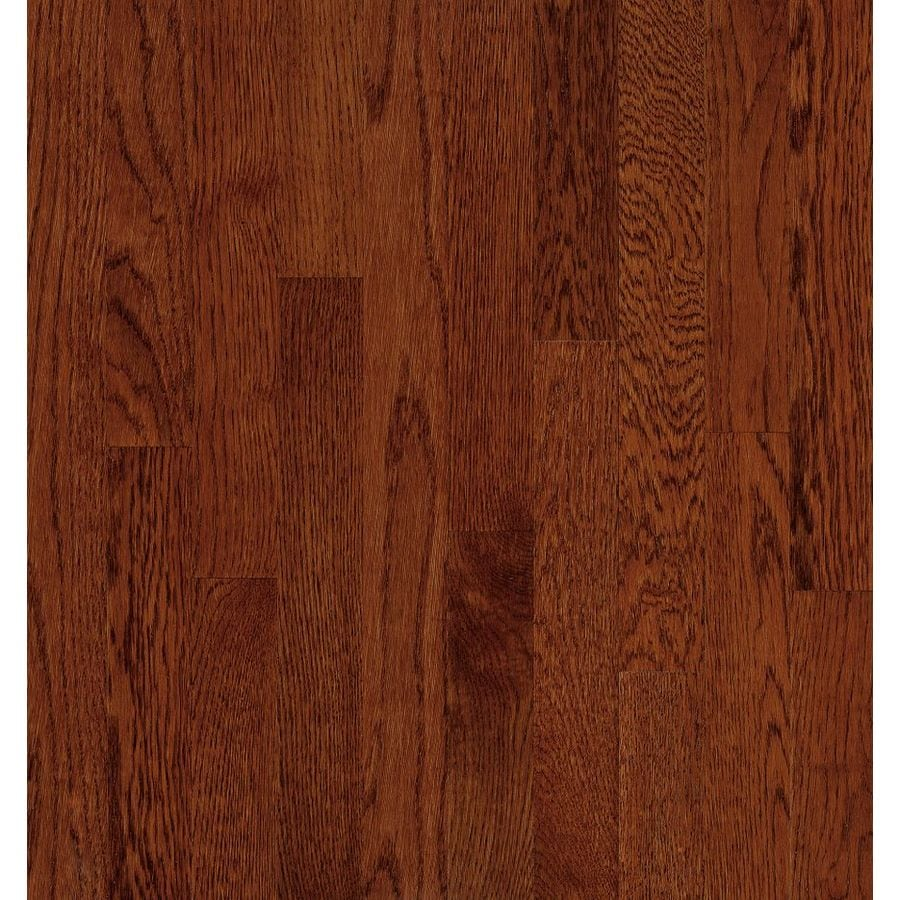 Shop bruce natural reflections w prefinished oak for Cherry hardwood flooring