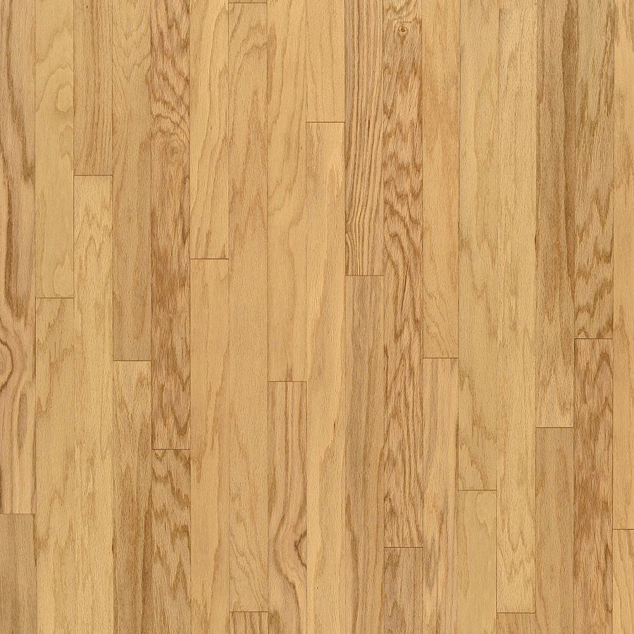 Shop bruce turlington 3 in natural engineered oak hardwood for Natural oak wood flooring