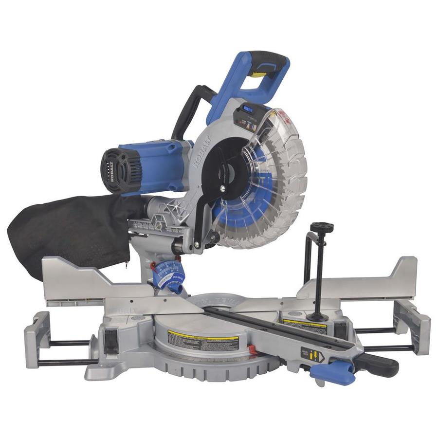 kobalt 10 in 15 amp dual bevel sliding laser compound miter saw at