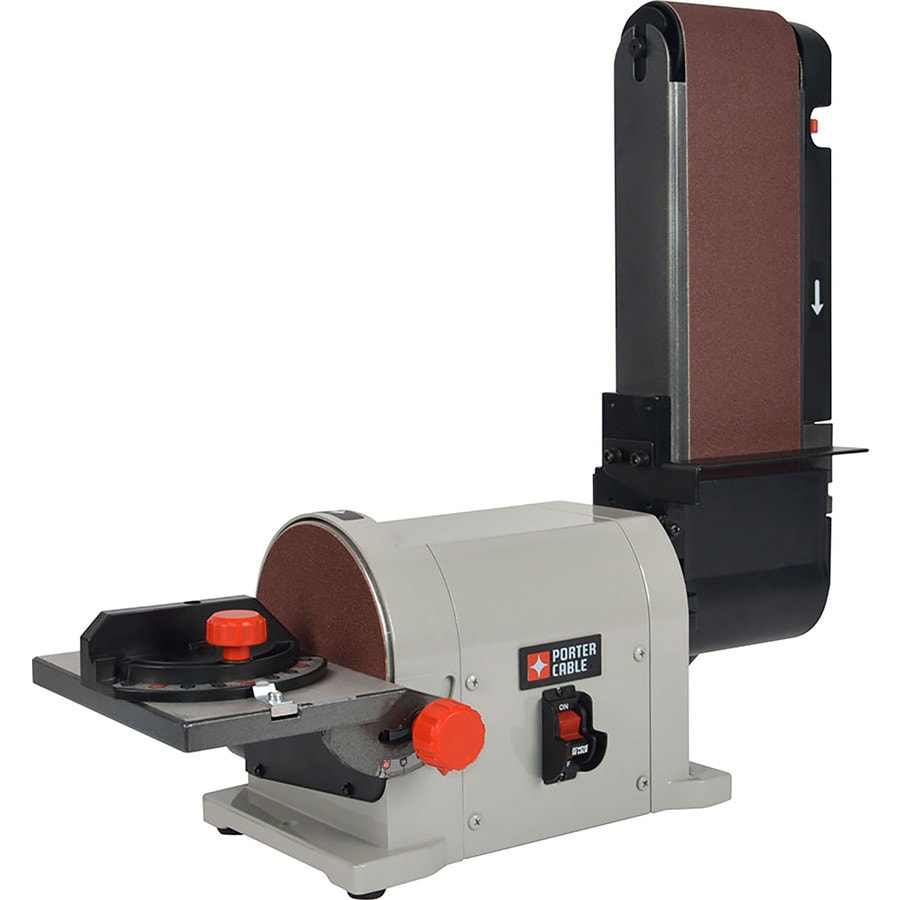 Shop Porter Cable 4 In X 6in Bench Belt Disc Sander At