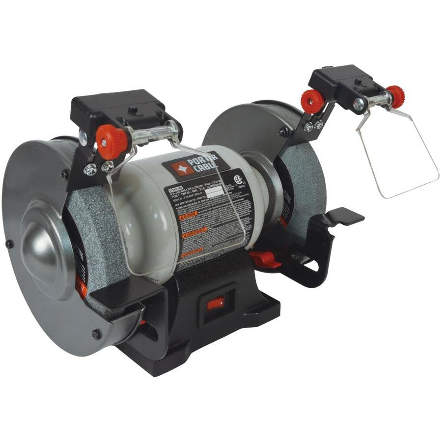 Shop Porter Cable 6 In Bench Grinder With Built In Light