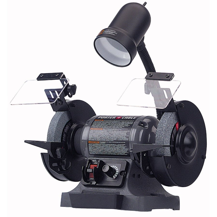 Shop Porter Cable 6 In Variable Speed Bench Grinder With Light At
