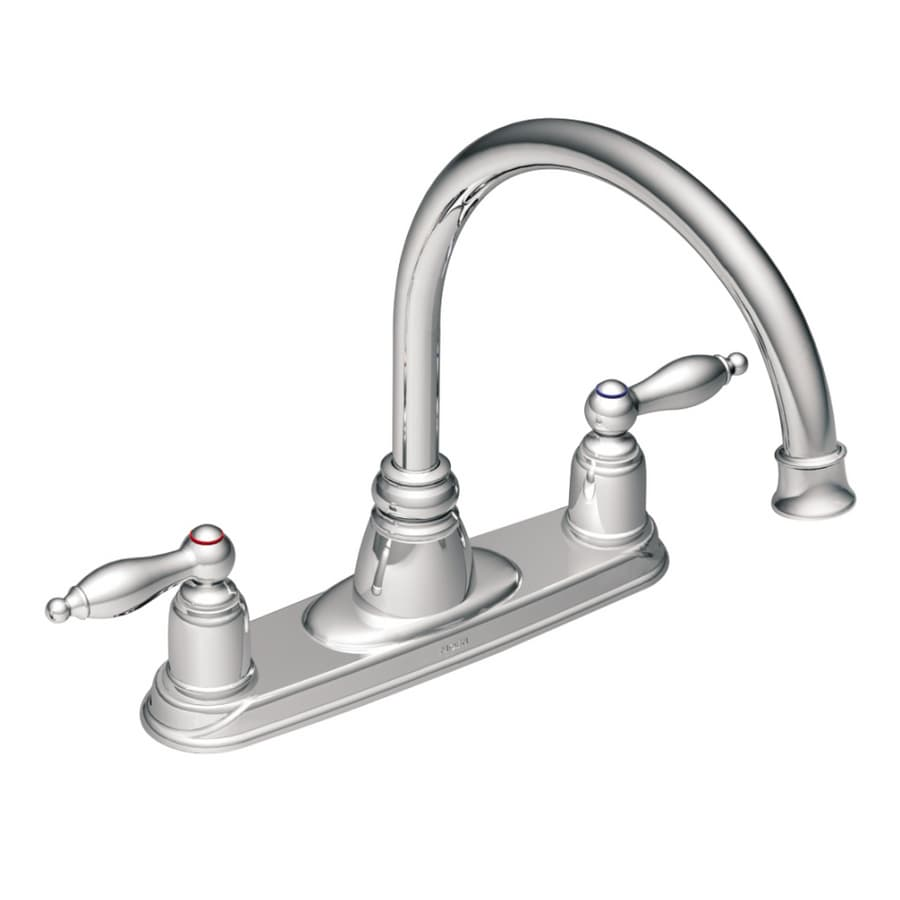 Shop Moen Castleby Chrome High-arc Kitchen Faucet at Lowes.com