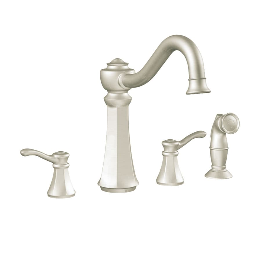 Shop Moen Vestige Stainless Steel High-arc Kitchen Faucet with Side ...
