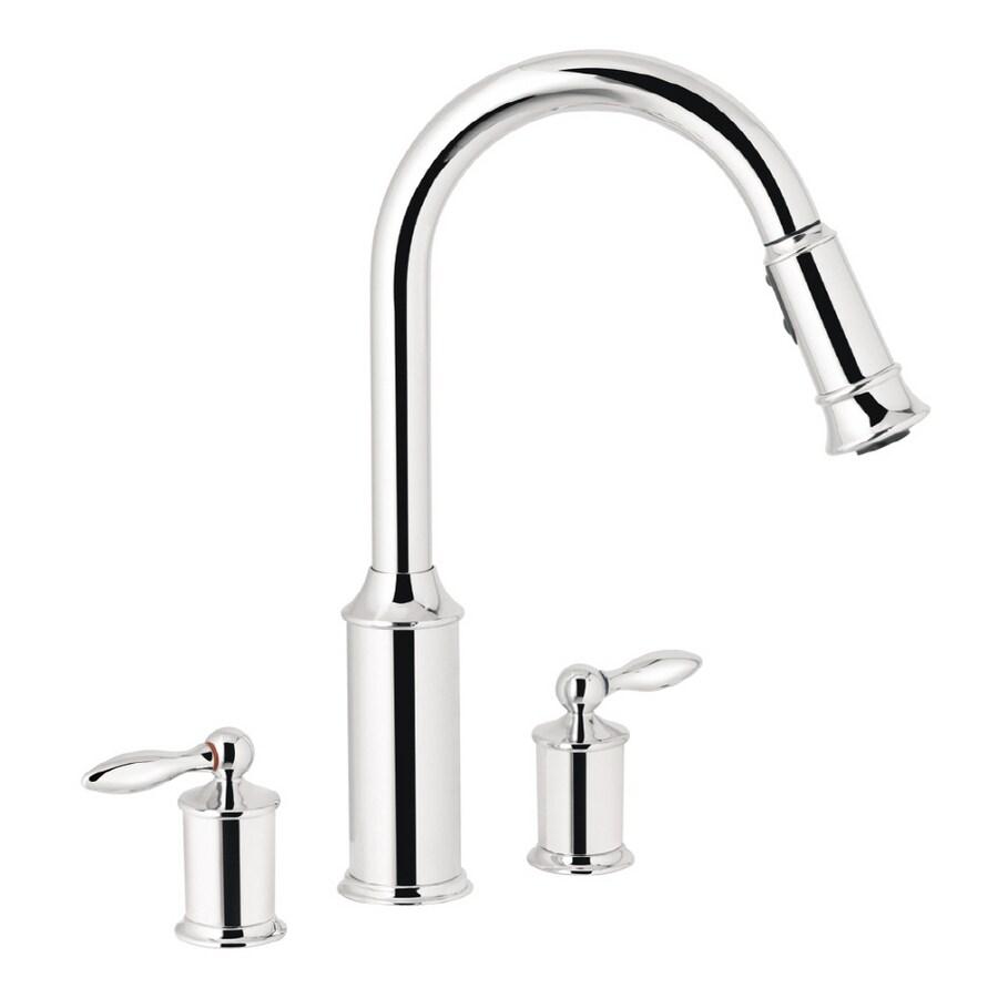 Shop Moen Aberdeen Chrome Pull-down Kitchen Faucet at Lowes.com