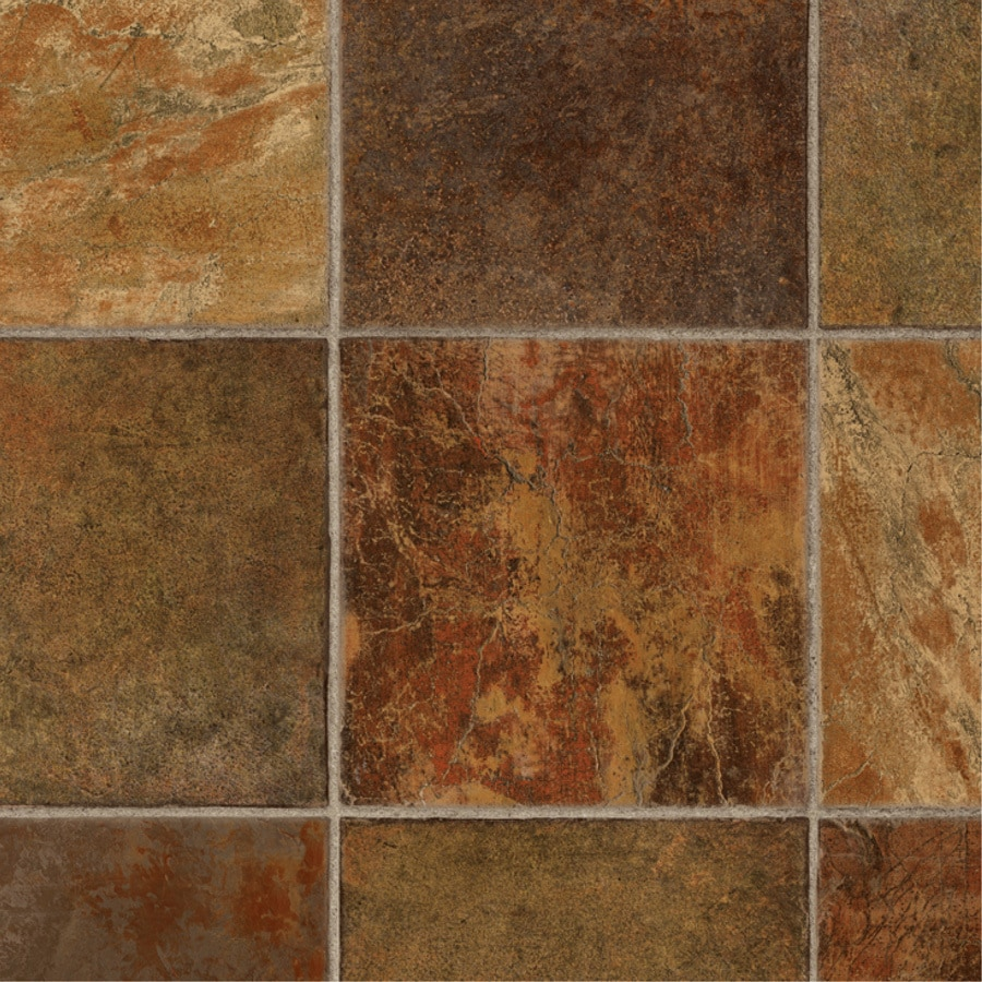 Shop Tarkett Lifetime 12 Ft W Dark Rust Tile Low Gloss