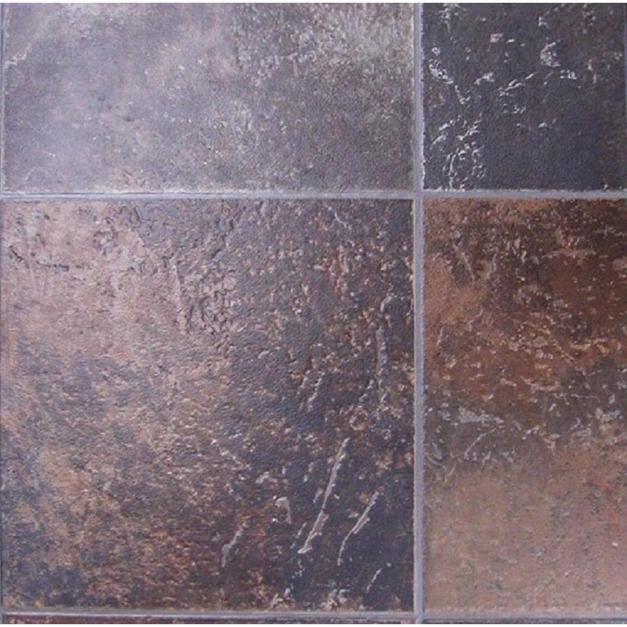 Tarkett Berkshire 12-ft W Rust Tile Low-Gloss Finish Sheet Vinyl