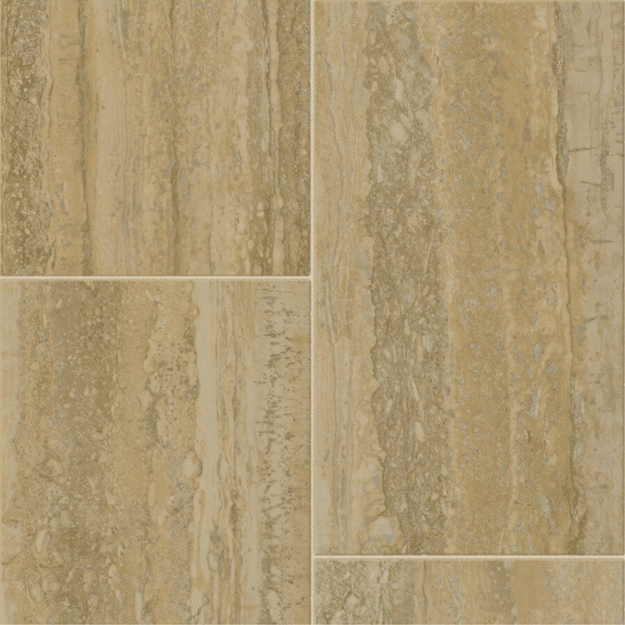 Tarkett Lifetime 12-ft W Modena Tile Low-Gloss Finish Sheet Vinyl