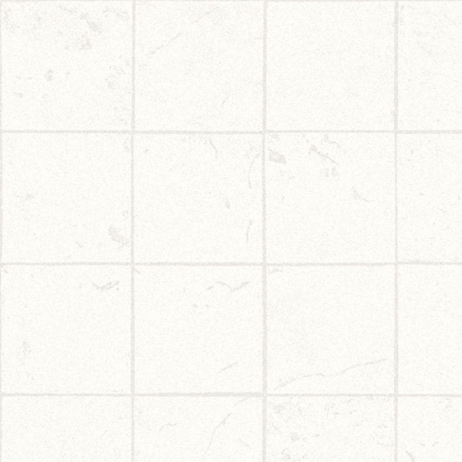 Tarkett Berkshire 6-ft W x Cut-to-Length White Tile Low-Gloss Finish Sheet Vinyl