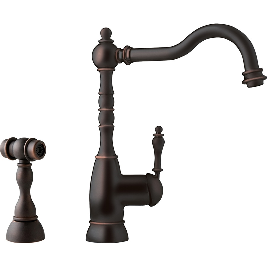 Franke Farm House Old World Bronze 1-Handle High-Arc Kitchen Faucet
