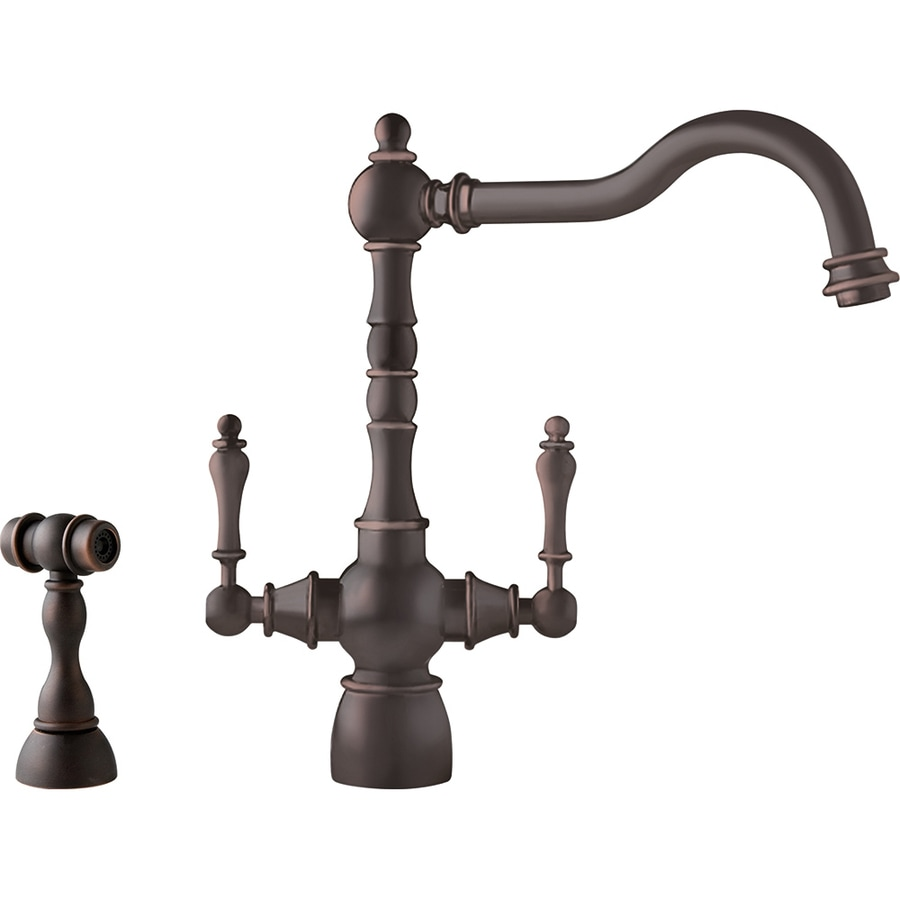 Franke Farm House Old World Bronze 2-Handle High-Arc Kitchen Faucet