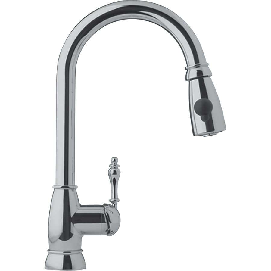 Franke Kitchen Faucet: Franke Farm House Satin Nickel 1-Handle Pull-Down Kitchen