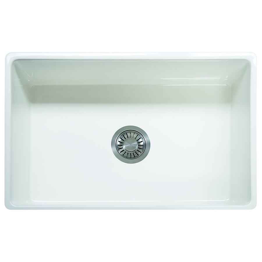 Franke Bar Sink : Shop Franke Farm House 20-in x 30.125-in White Single-Basin Fireclay ...
