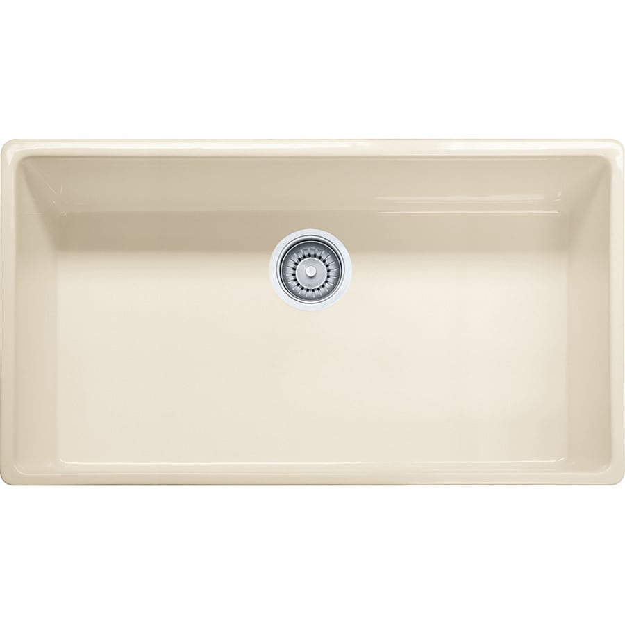 Franke Farm House 20-in x 33-in Linen 1 Fireclay Undermount (Customizable)-Hole Residential Kitchen Sink