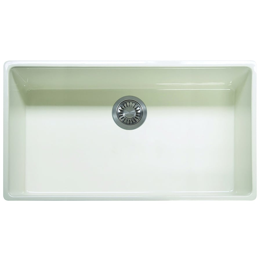 Franke Single Bowl Kitchen Sink : ... Single-Basin Fireclay Apron Front/Farmhouse Residential Kitchen Sink