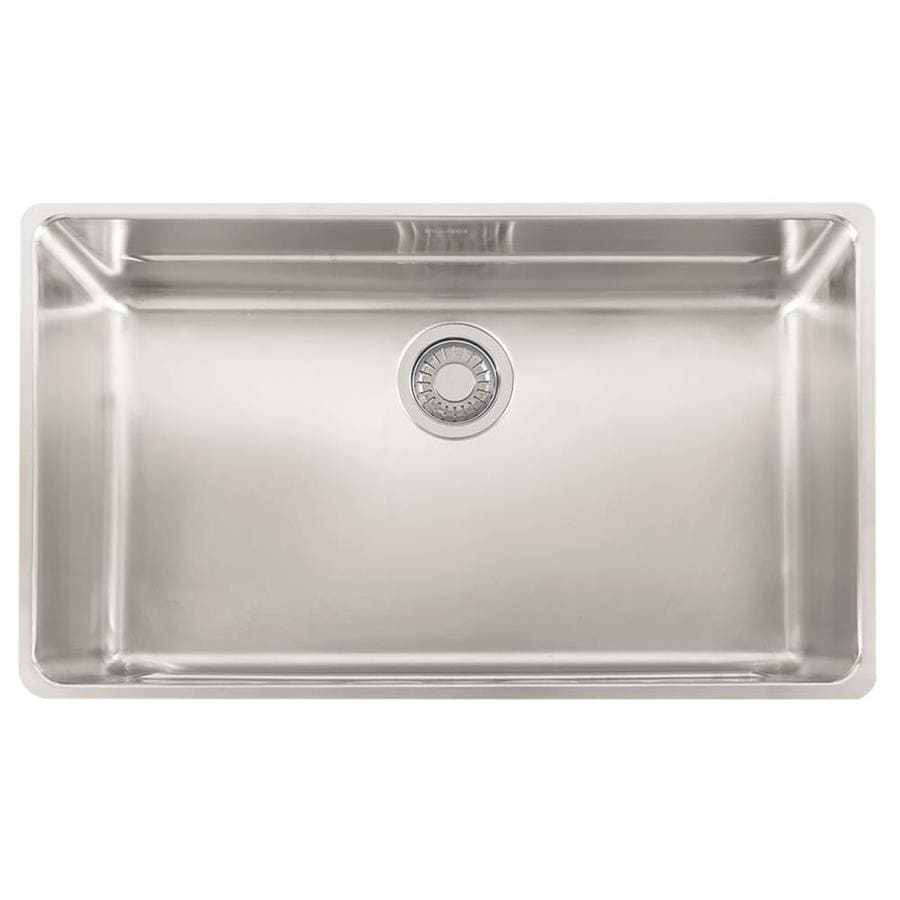 Franke Kubus 16.9375-in x 28.75-in Stainless Steel Single-Basin Undermount Residential Kitchen Sink