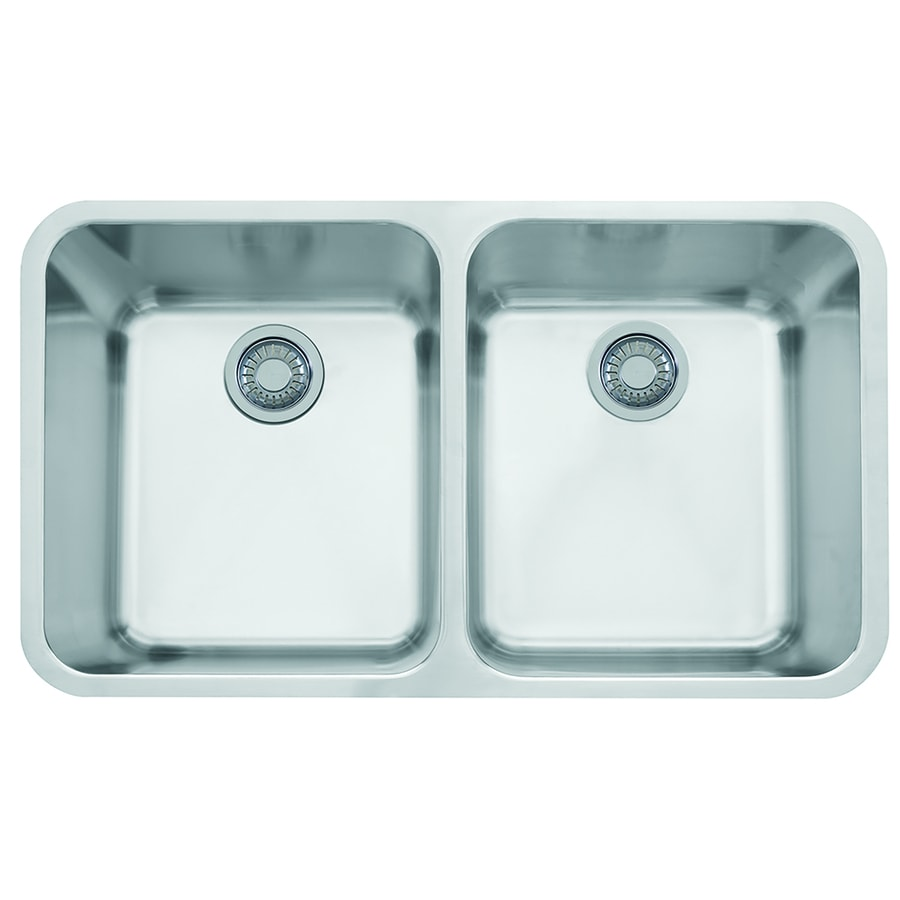 ... Steel Double-Basin Stainless Steel Undermount Residential Kitchen Sink