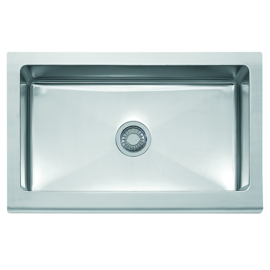 Franke Manor House 20.875-in x 33-in Stainless Steel Single-Basin Apron Front/Farmhouse Residential Kitchen Sink