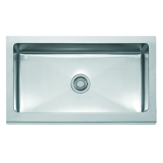 Franke Manor House Farmhouse Apron Front 36 In X 20 875 In Stainless Steel Single Bowl Kitchen Sink In The Kitchen Sinks Department At Lowes Com