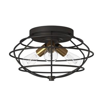 Jax 15 In Vintage Bronze Modern Contemporary Flush Mount Light
