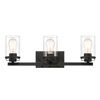 Designers Fountain Jedrek 3-Light Black Modern/Contemporary Vanity Light