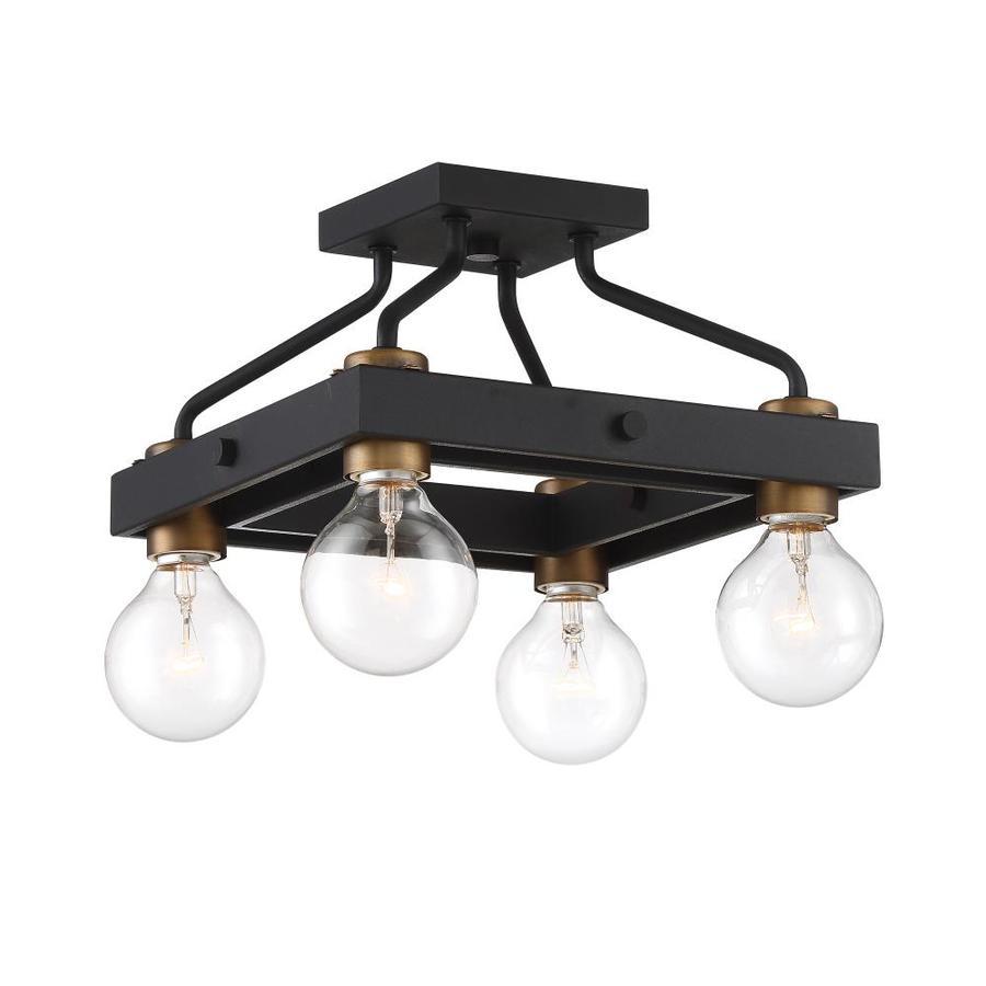Designers Fountain Ravella 11 75 In W Black No Shades Semi Flush Mount Light At Lowes Com
