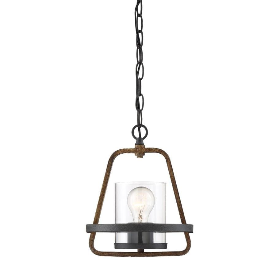 Industrial Bell Pendant Light: Designers Fountain Ryder Forged Black Mini Industrial