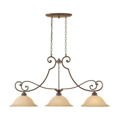 Designers Fountain Mendocino 45 25 In W 3 Light Forged