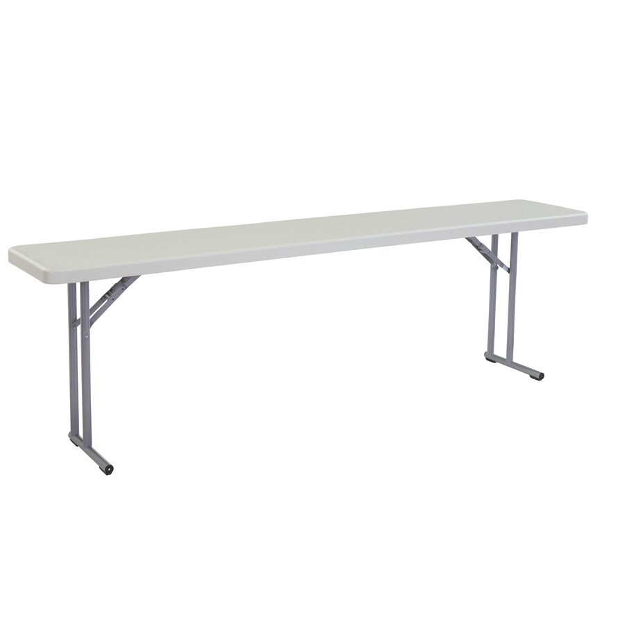 National Public Seating 96-in x 18-in Rectangle Steel Grey Folding Table