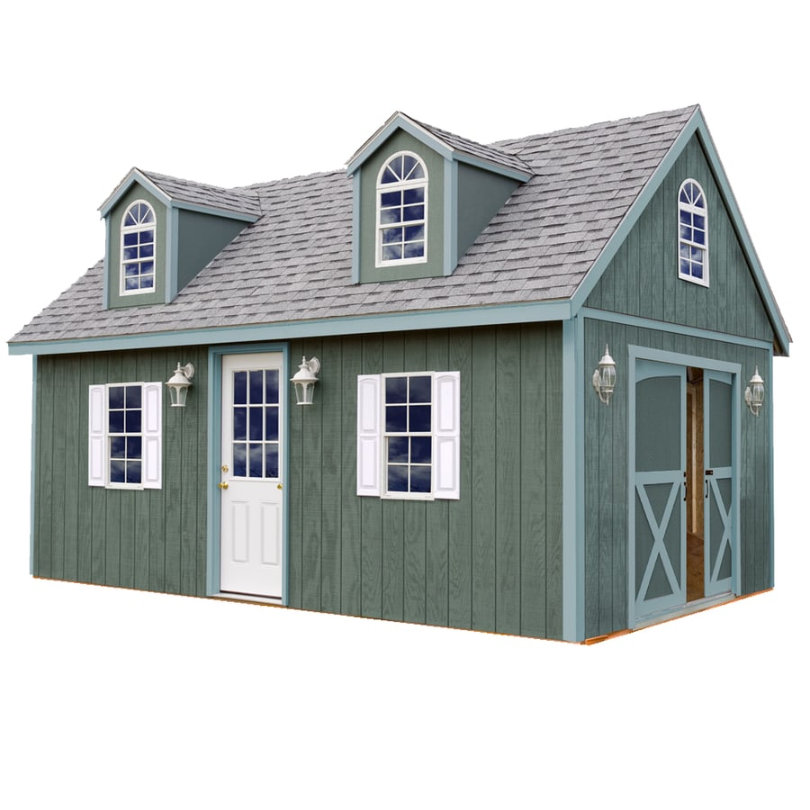 Best Barns Arlington Without Floor Gable Engineered Wood Storage Shed (Common: 12-ft x 16-ft; Interior Dimensions: 11.42-ft x 15.17-ft)