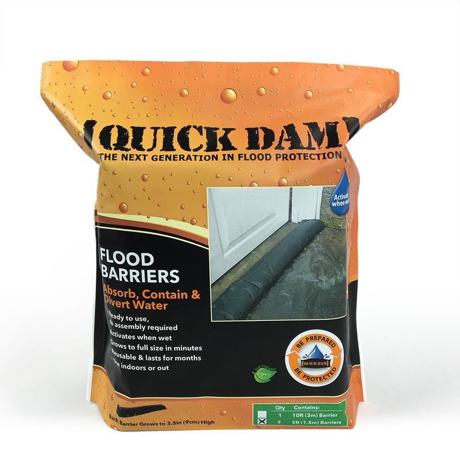 Quick Dam 2-Pack 60-in L x 6-in W Self-Inflating Flood Bags