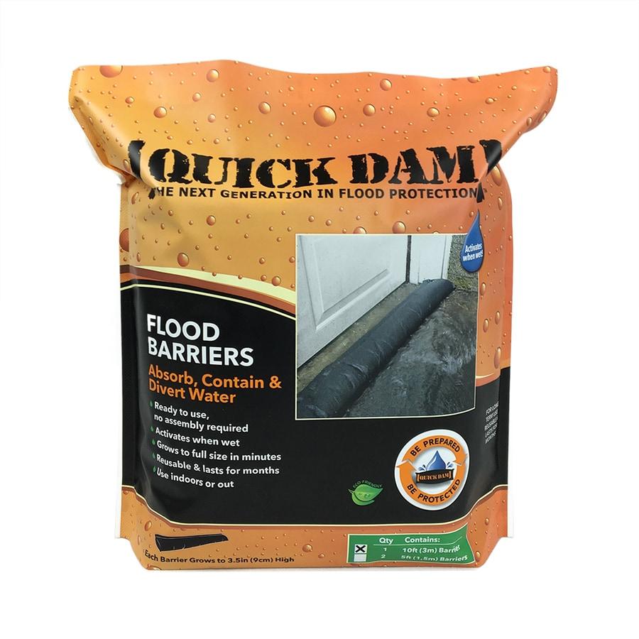 garage door flood barrierShop Quick Dam 10ft L x 6in W SelfInflating Flood Bag at Lowescom