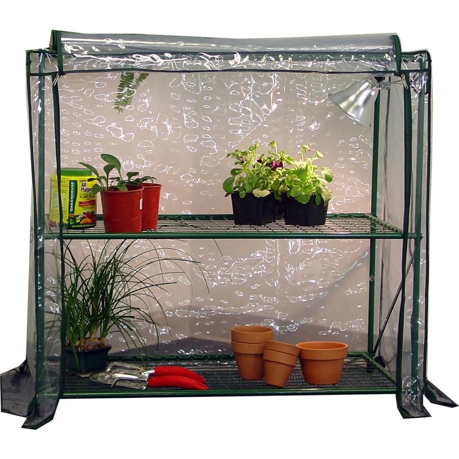 1.7-ft L x 3.4-ft W x 3-ft H Metal Greenhouse