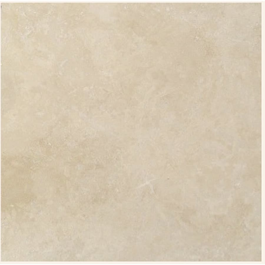 Shop 18 x 18 light ivory natural travertine floor tile at lowes 18 x 18 light ivory natural travertine floor tile dailygadgetfo Image collections