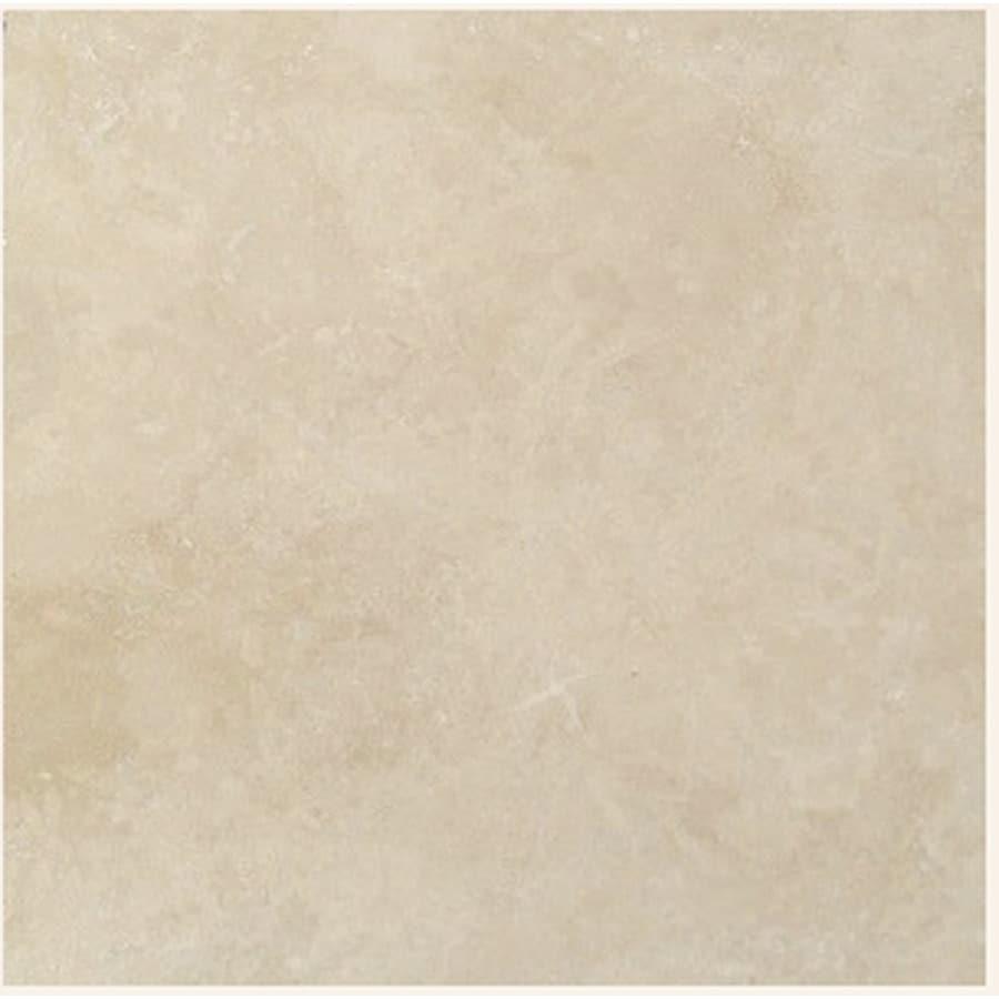 "shop 18"" x 18"" light ivory natural travertine floor tile at lowes"