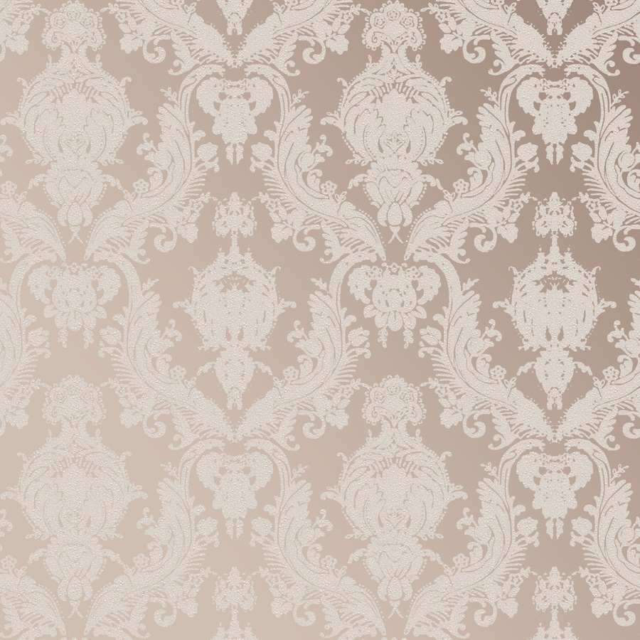 Tempaper Textured Bisque Vinyl Textured Damask Wallpaper
