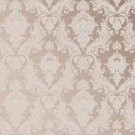 Tempaper Textured 56 Sq Ft Bisque Vinyl Damask L And Stick Wallpaper