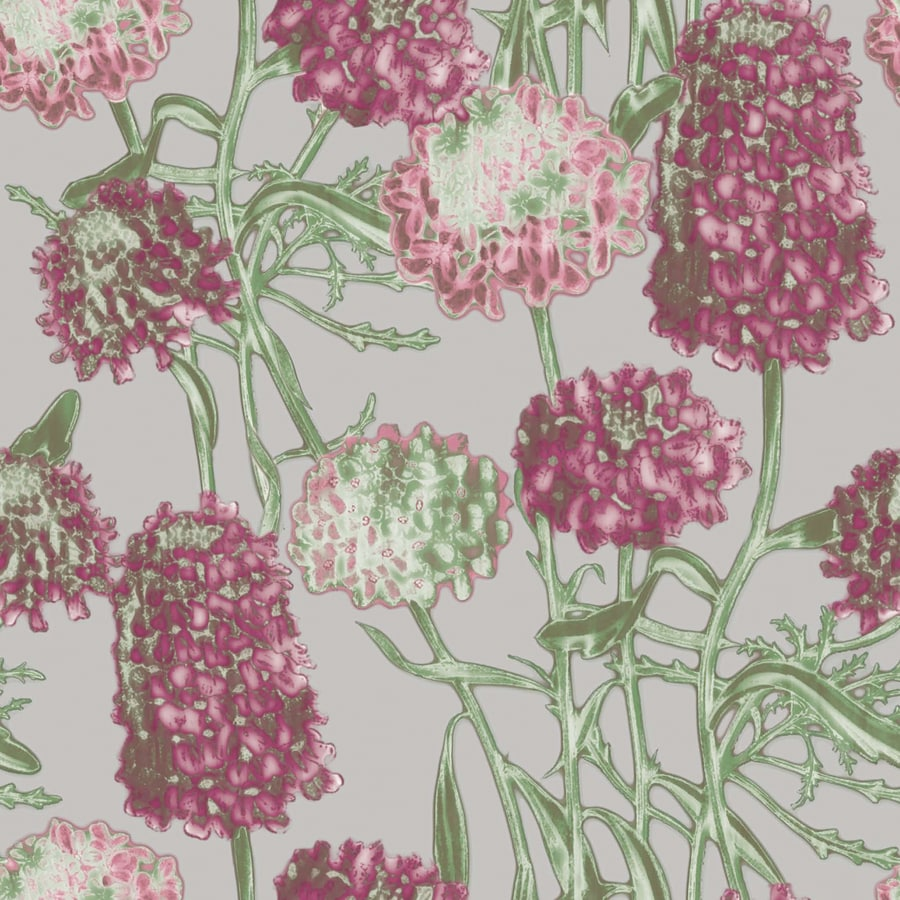 Tempaper Elements Blush Vinyl Floral Wallpaper
