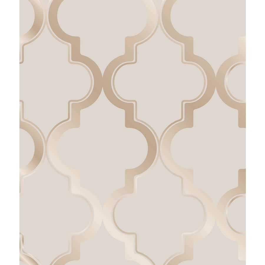 Tempaper Elements Bronze Gray Vinyl Geometric Wallpaper