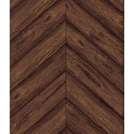 Tempaper Textured 56 Sq Ft Walnut Vinyl Wood L And Stick Wallpaper