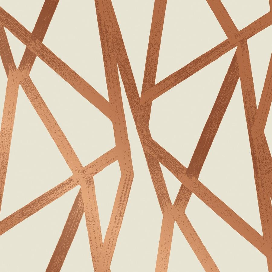 Tempaper Genevieve Gorder Urban Bronze Vinyl Abstract Wallpaper