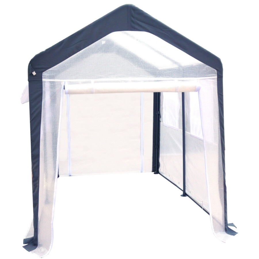 SPRING GARDENER 10-ft L x 8-ft W x 8-ft H Metal Poly Sheeting Greenhouse