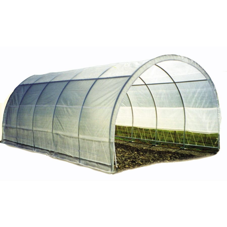 20-ft L x 12-ft W x 8.6-ft H Metal Poly Sheeting Greenhouse