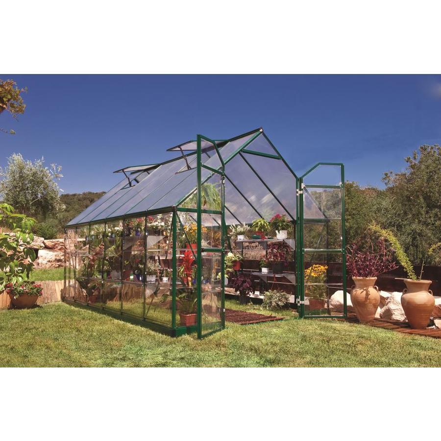 Palram 12-ft L x 8-ft W x 7.5-ft H Aluminum Polycarbonate Greenhouse