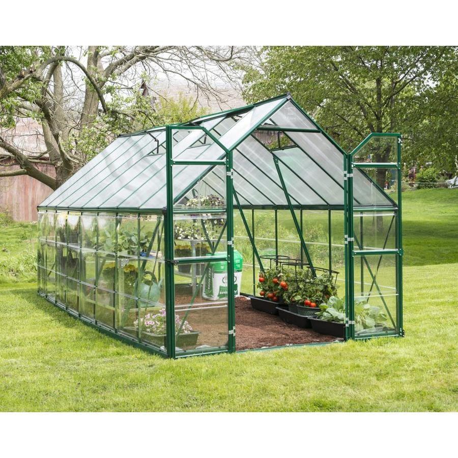 Palram 16-ft L x 8-ft W x 7.5-ft H Aluminum Polycarbonate Greenhouse