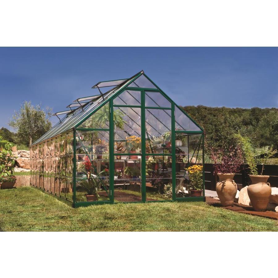 Palram 20-ft L x 8-ft W x 7.5-ft H Aluminum Polycarbonate Greenhouse