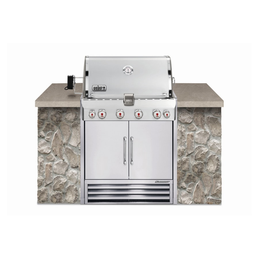 Weber Summit S  Built In Natural Gas
