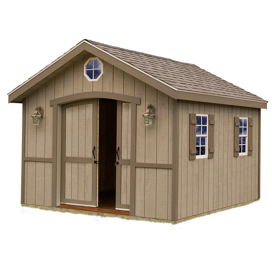 Best Barns (Common: 10-ft x 16-ft; Interior Dimensions: 9.42-ft x 15.42-ft) Cambridge without floor Gable Engineered Storage Shed (Installation Not Included)