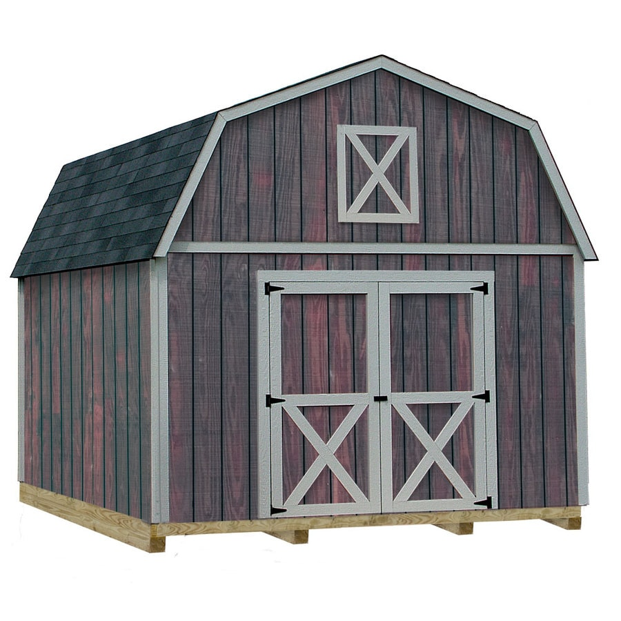Best Barns (Common: 12-ft x 16-ft; Interior Dimensions: 11.42-ft x 15.42-ft) Denver with floor Gambrel Engineered Storage Shed (Installation Not Included)
