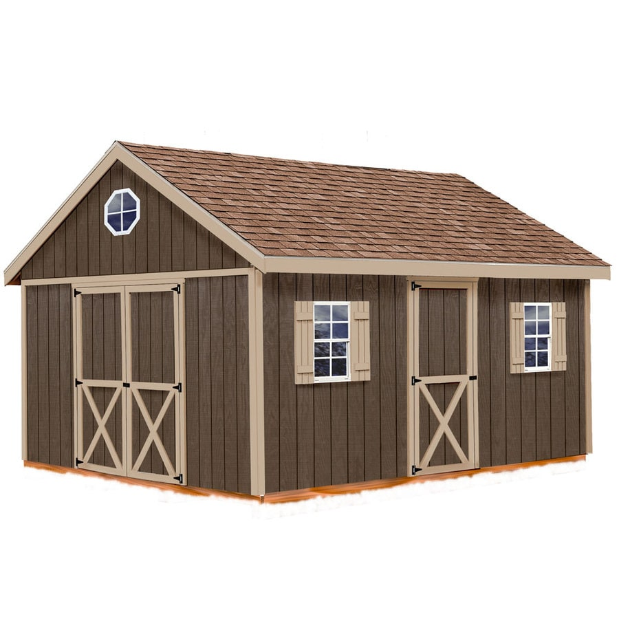 Best Barns (Common: 12-ft x 16-ft; Interior Dimensions: 11.42-ft x 15.42-ft) Easton without floor Gable Engineered Storage Shed (Installation Not Included)